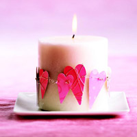 Heart Candle Wreath