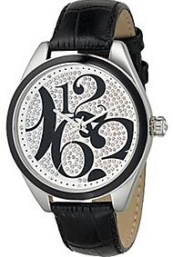 Fossil Womens ES2082 Black Leather Watch