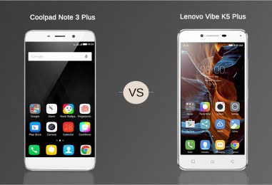 Battle Of Affordable Smartphones: Coolpad Note 3 Plus vs. Lenovo Vibe K5 Plus