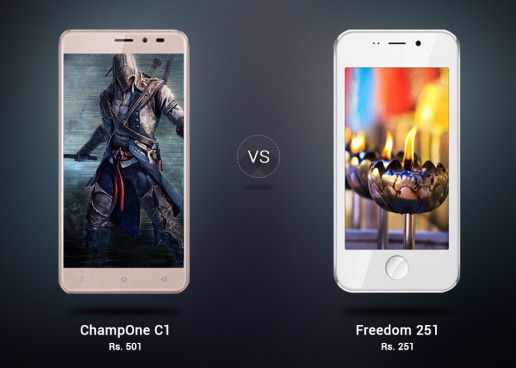 ChampOne C1 Vs Freedom 251 – The Battle of Most Economic Smartphones