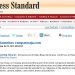 CompareRaja in the News – Business Standard, a Leading Business Daily