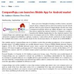 Much awaited and useful Launch of CompareRaja Android App – Audience Matters
