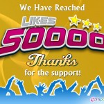 50,000 likes on Facebook – A milestone achieved by CompareRaja on 12th December 2012