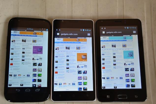 Spice iBall Micromax smartphones