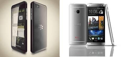 Blackberry Z10-HTC One