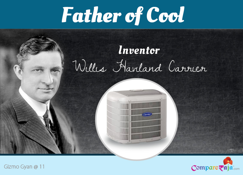 invention of airconditioning Modern air conditioning emerged from advances in chemistry during the 19th century, and the first large-scale electrical air conditioning was invented and used in 1902 by american inventor willis carrier.