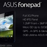 Asus Announces FonePad – A Tablet with Calling Capability