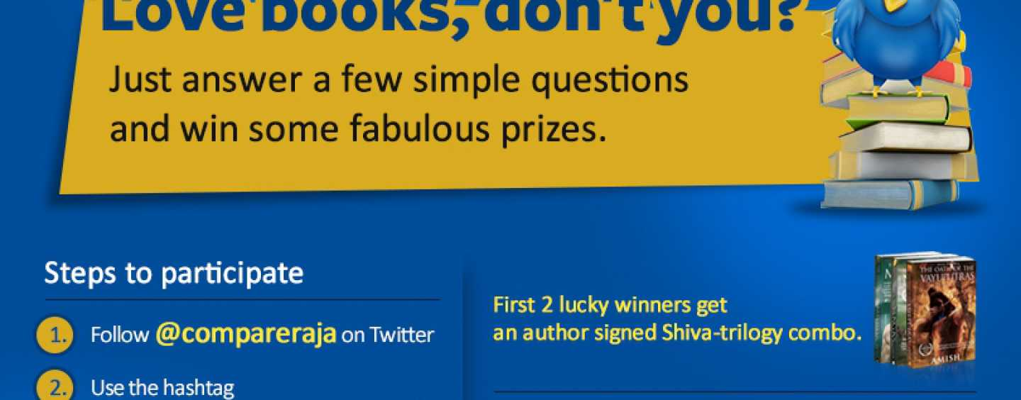 A very special Twitter Contest for Book Lovers – #BooksAtCompareRaja