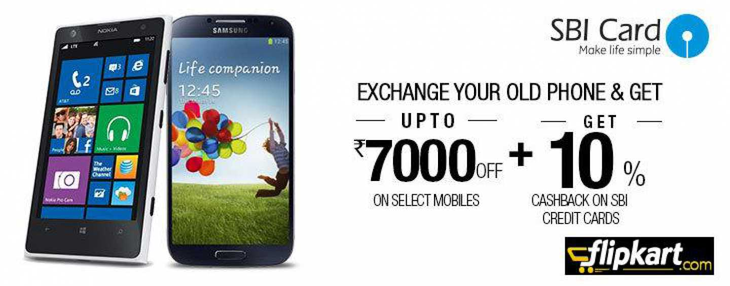 Mobile Exchange Offers at Flipkart, Save Up to Rs 7000 Off on Selected Mobiles
