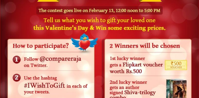 #IWishToGift – A Valentine's Day Special Contest At Compareraja