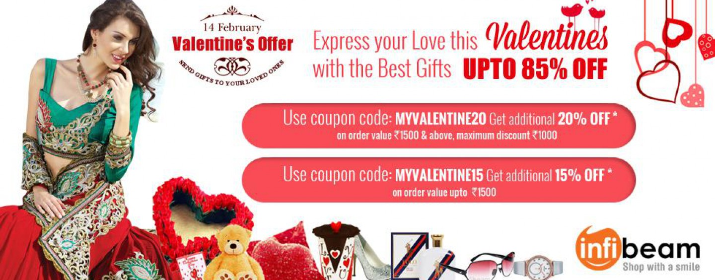 Valentine's Offer at Infibeam – Up To 85% off on Best Gifts