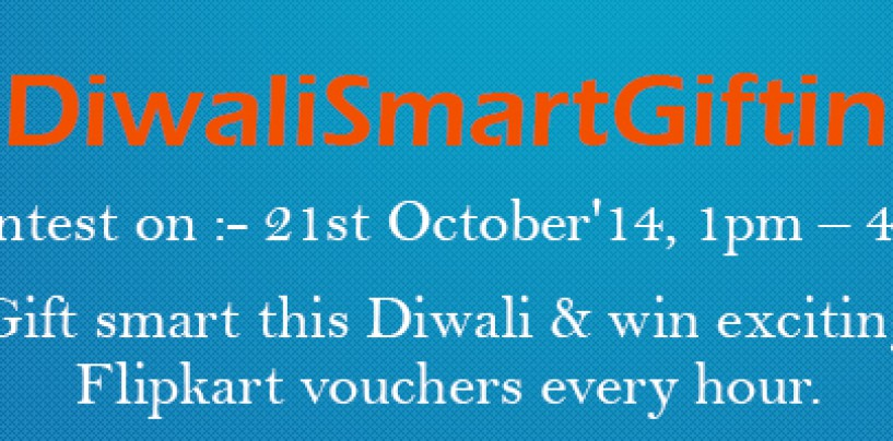 Compare Raja's #DiwaliSmartGifting contest on Twitter on 21st October 21, 2014
