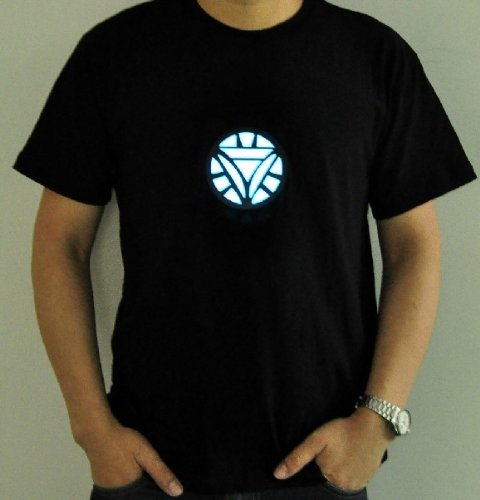led iron man tshirt