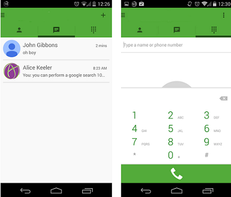 in settings how to set answer call commands