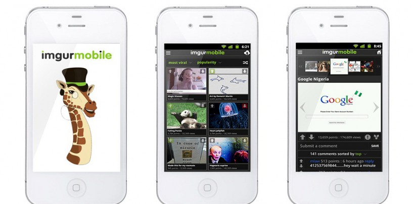 With Imgur iPhone App Browsing will get more addictive