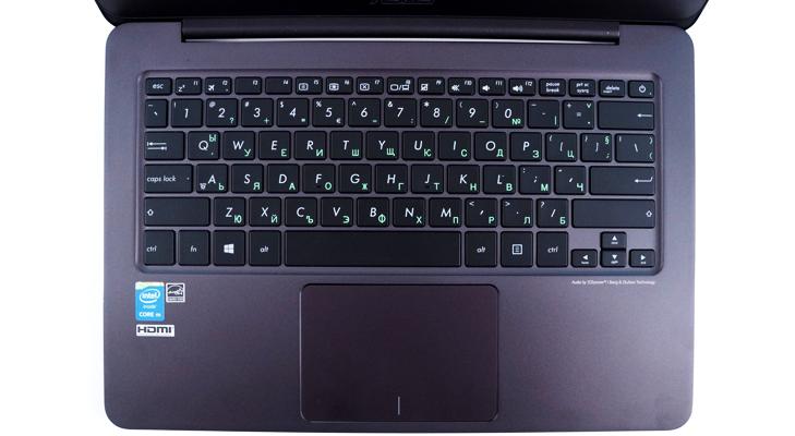 Asus zenbook keyboard