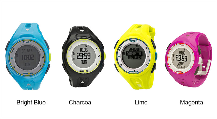 timex ironman run x20 watch colours