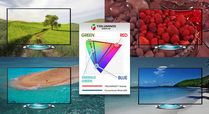 sony 4k tv triluminous display