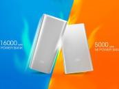 Xiaomi Unveils 16000mAh and 5000mAh Mi Power Banks in India.