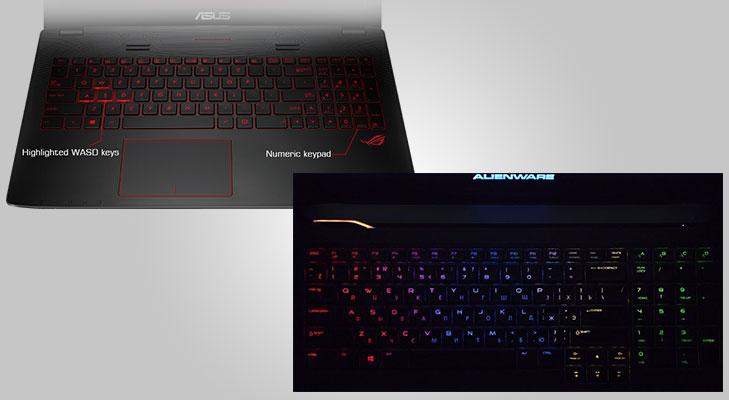 Alienware 17 keyboard vs asus keyboard