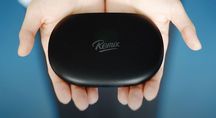 remix mini in hands