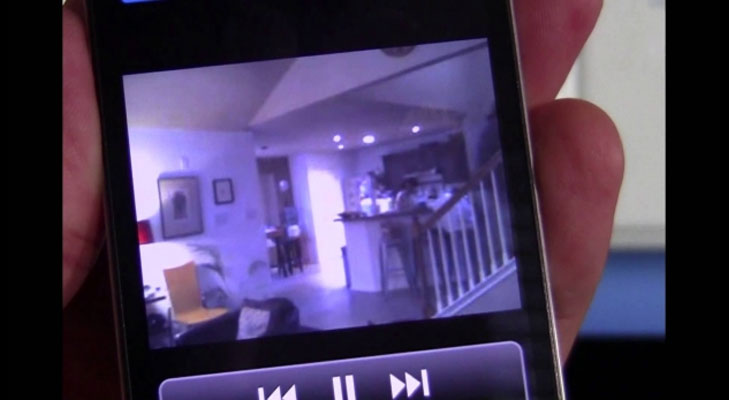security camera in phone