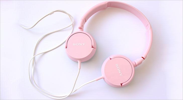 sony pink headphones
