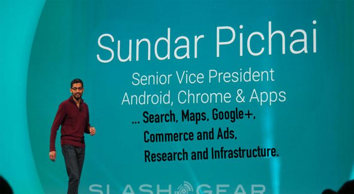 sundar pichai senior vice president android apps