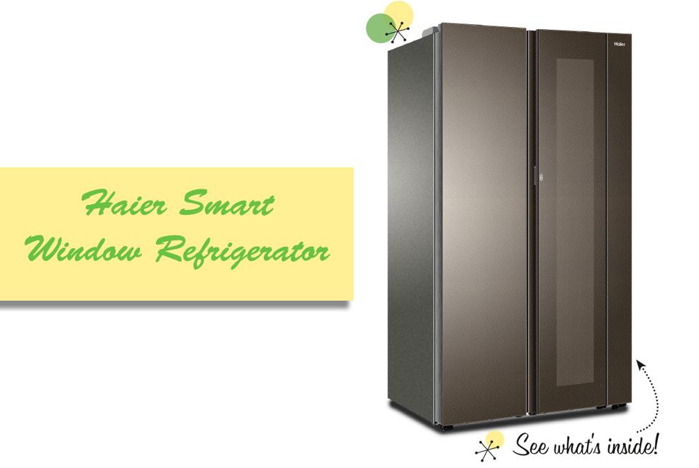 haier smart window fridge
