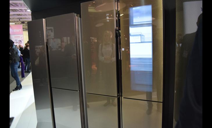 haier smart window refrigerator outside