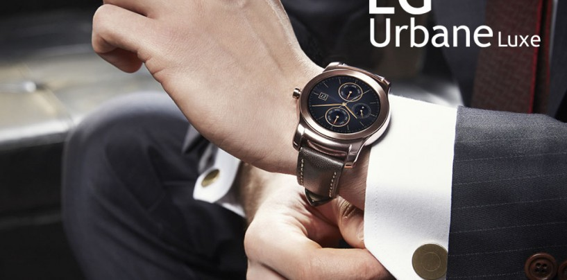 LG Strikes Gold – Unveils Its New 23 Karat Gold Watch 'Urbane Luxe'