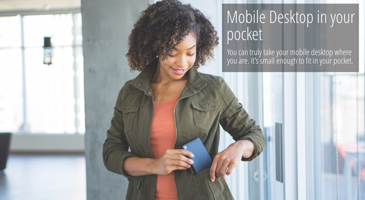 mobile desktop in pocket