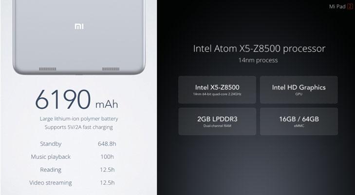 mi pad 2 processor