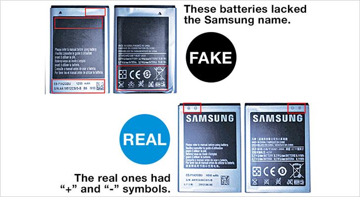 fake batteries