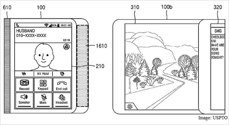 samsung patent flexible display