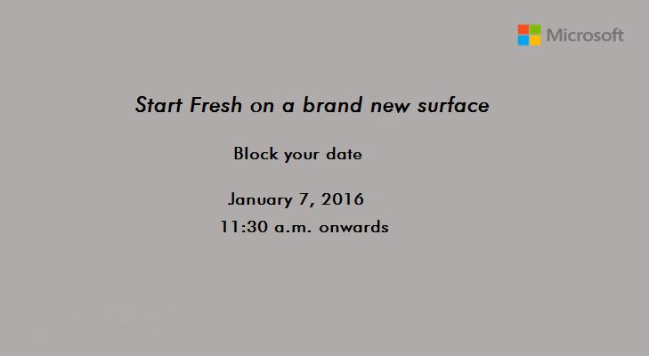 surface pro 4 invite