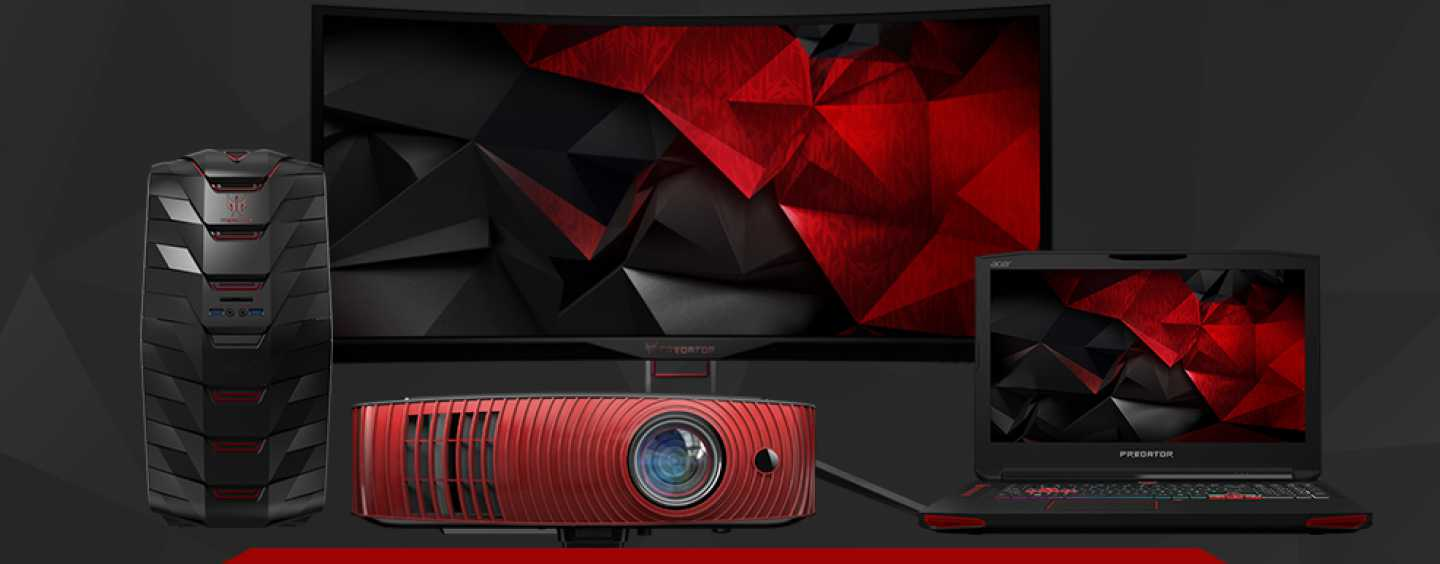 Acer creates gaming heaven with notebooks, monitors and projectors!