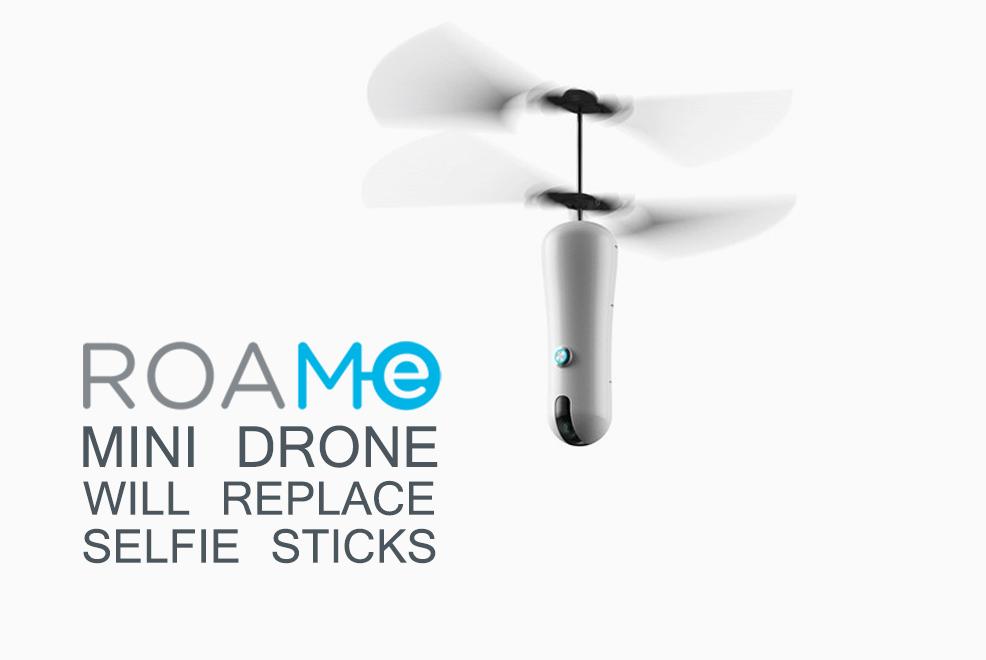 roam e mini drone will replace selfie sticks versus by compareraja. Black Bedroom Furniture Sets. Home Design Ideas