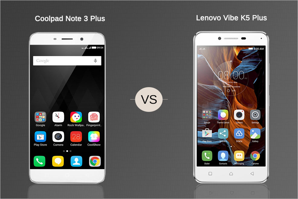coolpad note 3 plus vs lenovo k5 plus