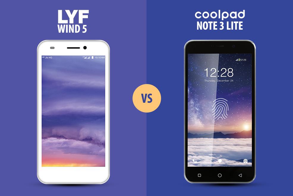 coolpad note 3 lite vs reliance lyf wind 5 versus by compareraja. Black Bedroom Furniture Sets. Home Design Ideas