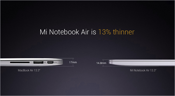 Mi notebook air comparision apple macbook