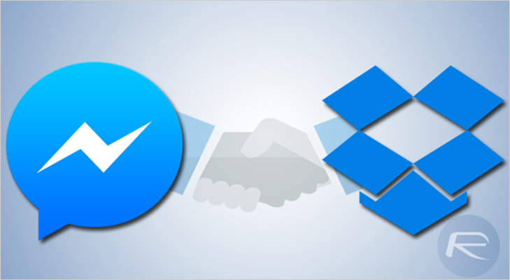 Facebook messenger dropbox files