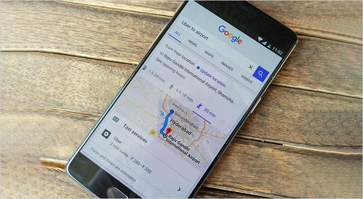 book uber cab thorugh google search