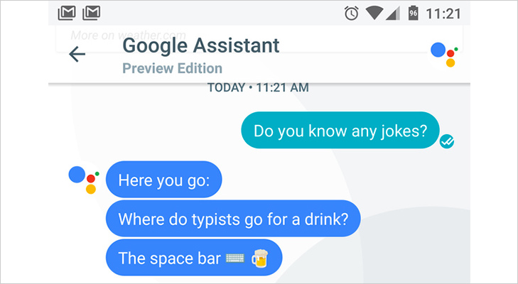 google assistant jokes friend