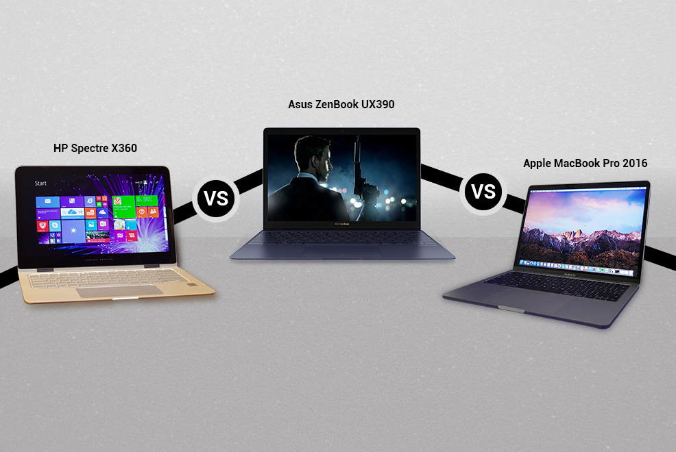 Asus ZenBook 3 Vs HP Spectre x360 Vs Apple MacBook 2016