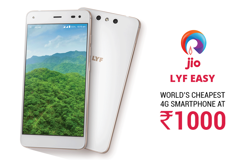 Reliance Jio Lyf Easy - world's cheapest 4G smartphone
