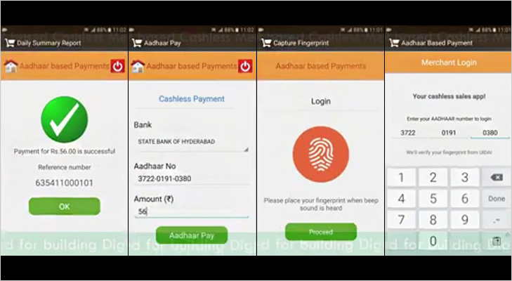 aadhar how to make e-payment