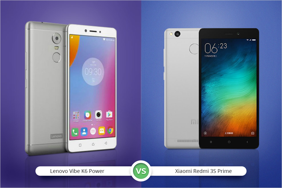 Lenovo K6 Power VS Xiaomi Redmi 3S Prime