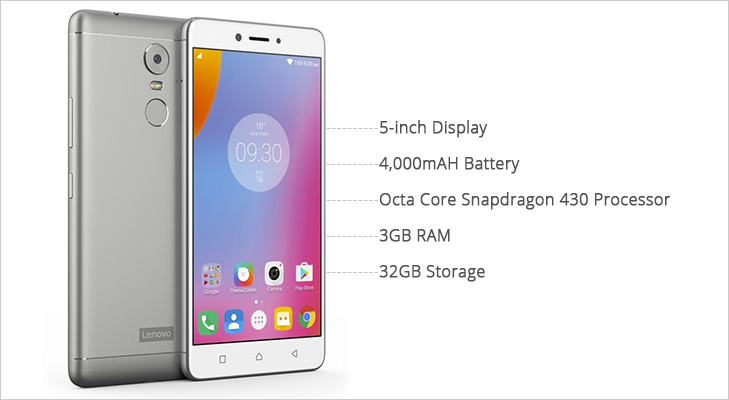 lenovo vibe k6 power features