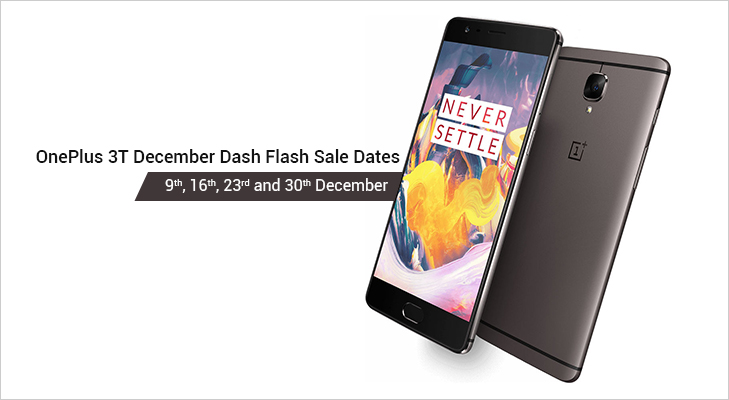 oneplus 3t december dash sale every friday